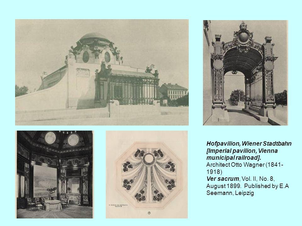 Hofpavilion, Wiener Stadtbahn [Imperial pavilion, Vienna municipal railroad].